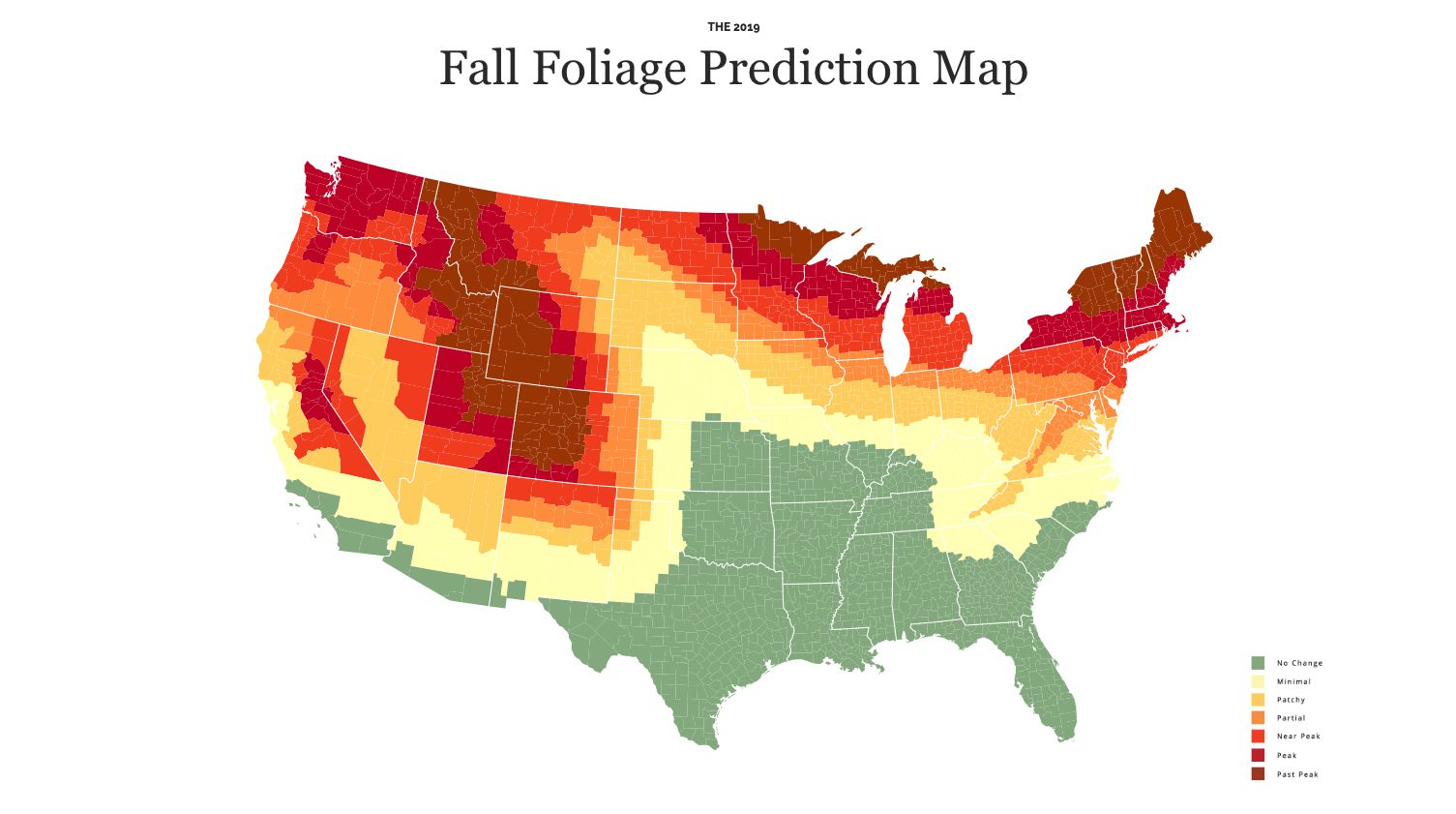 Foliage Map New York 2017.Fall Foliage Map 2019 See When Autumn Leaves Will Reach