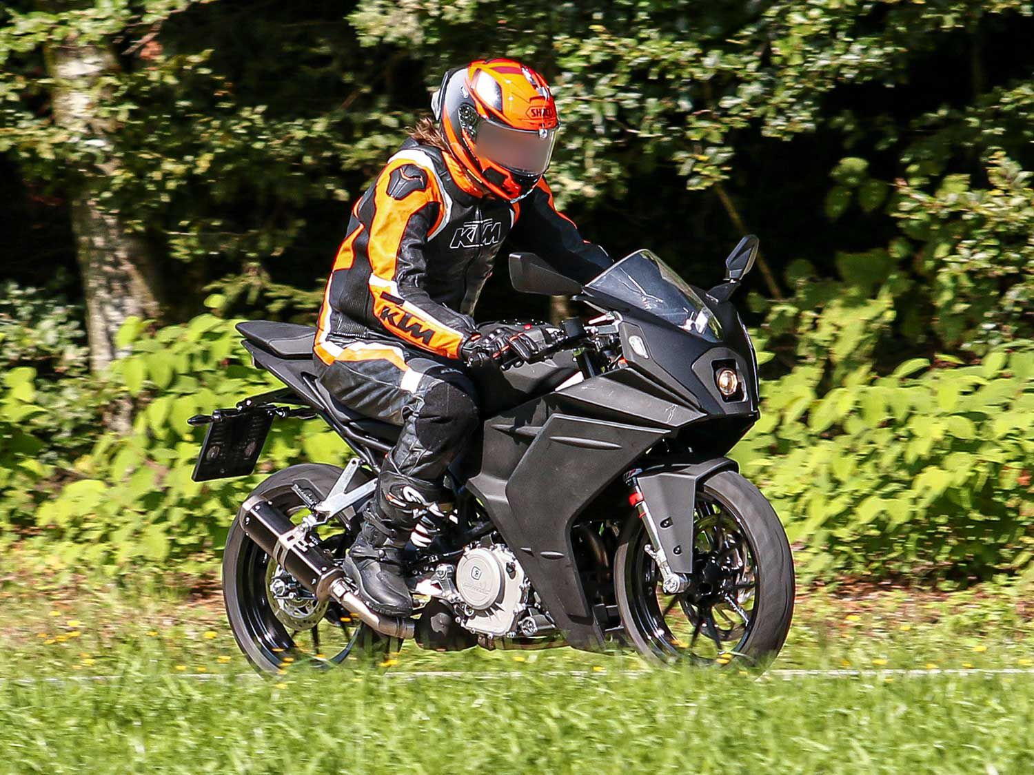 2020 Ktm Rc 390 Spied Testing Motorcyclist