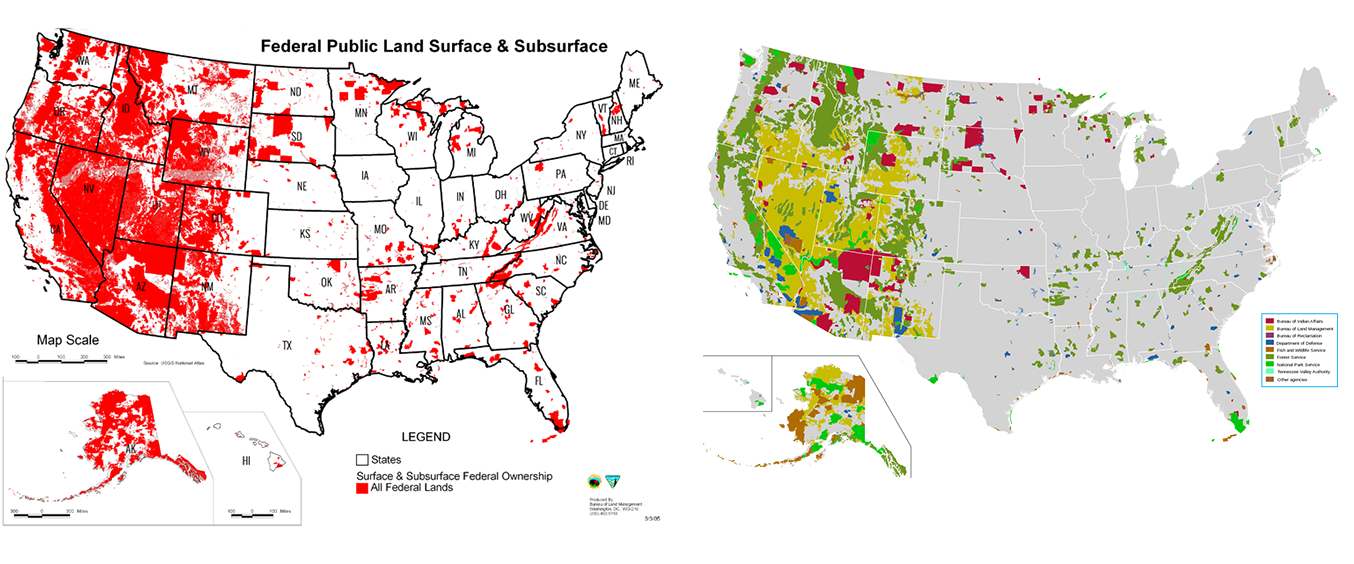 Map Of Us Federal Lands Federal Land Transfer: Beware of Politicians Bearing Maps