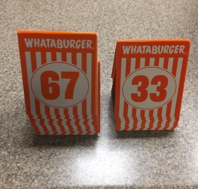 Whataburger Table Tent Numbers
