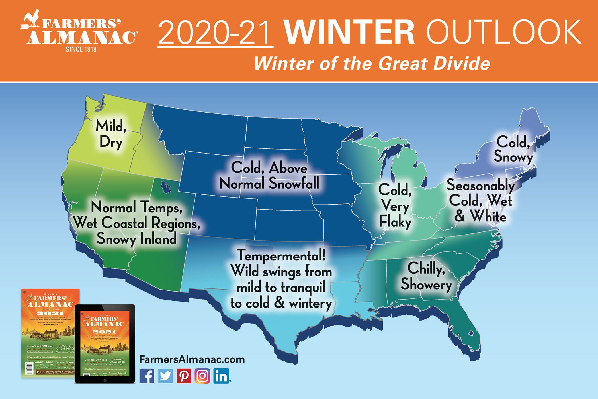 Farmer S Almanac Winter Of The Great Divide With A Blizzard Of 1 2 Feet Of Snow Pennlive Com