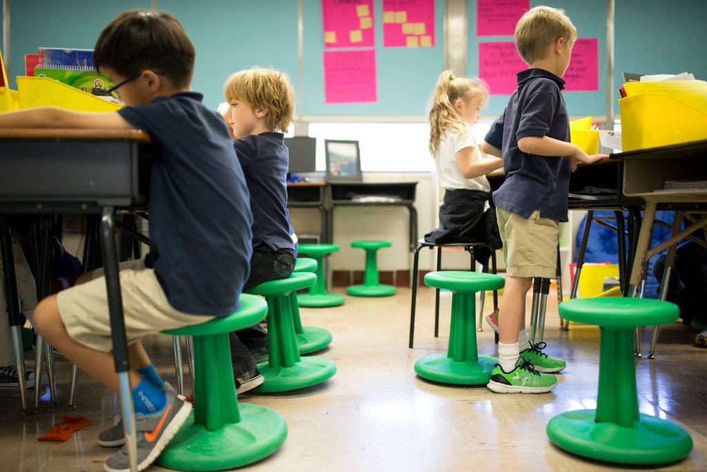 Brilliant Wobble Chairs Bouncy Balls Let Students Wiggle While They Work Ocoug Best Dining Table And Chair Ideas Images Ocougorg