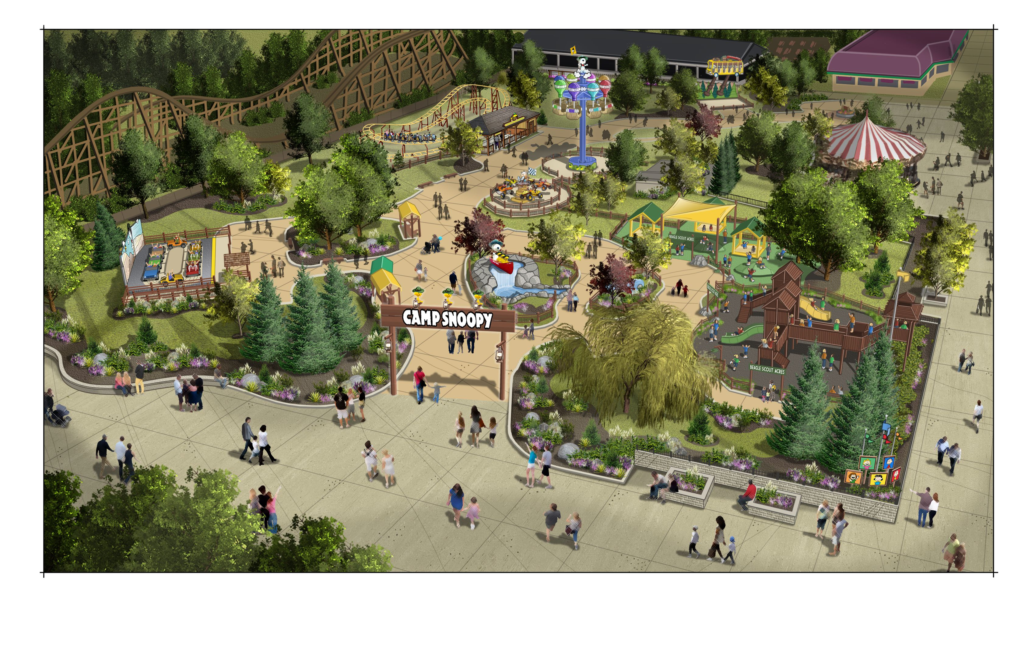 Michigan S Adventure To Open Snoopy Themed Park In 2020 Mlive Com