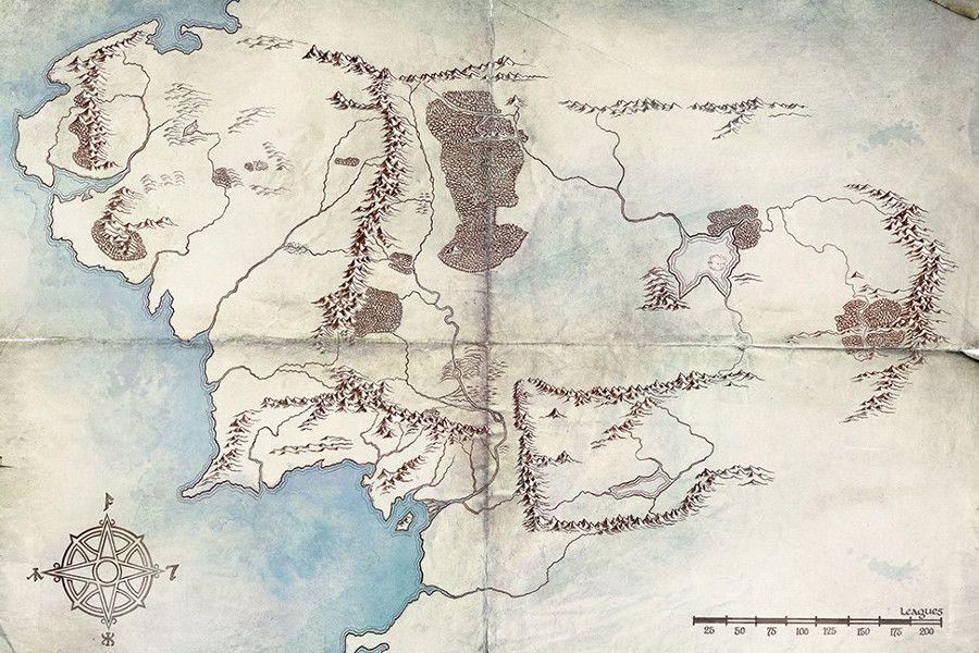 Amazon Presento Su Mapa De La Tierra Media Para La Serie De El