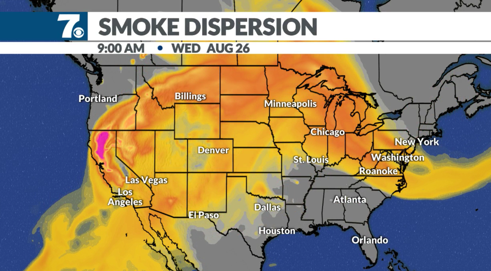Image of: Smoke From The California Wildfires Has Made Its Way To The East Coast
