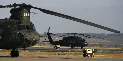 Why are so many military helicopters flying over Dallas-Fort