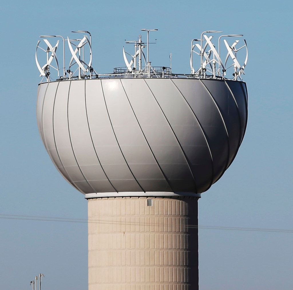 Wind turbine blades falling off Addison's water tower result