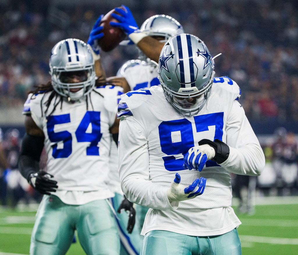 detailed pictures ab8fb 7addb Source: Cowboys DE Taco Charlton to be inactive for season ...