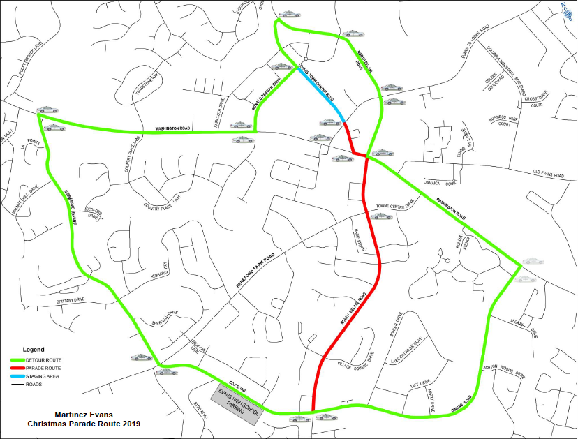 Map Columbia County Christmas Parade 2020 Road closures to look out for during Columbia County Christmas parade