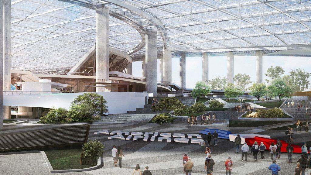American Airlines Spending 90 Million To Put Name On Plaza Outside New L A Rams And Chargers Stadium