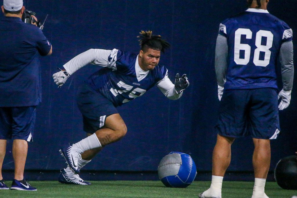 huge selection of ab82e ae256 Dallas Cowboys rookie Trysten Hill leaves first training ...