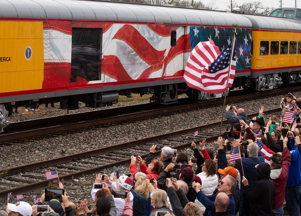 A special train, 4141, took George Bush to his final resting