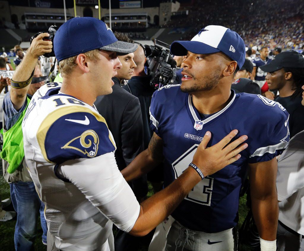 Jared Goff S Extension Reportedly Includes Nfl Record 110m Guaranteed What Does That Mean For Dak Prescott Cowboys