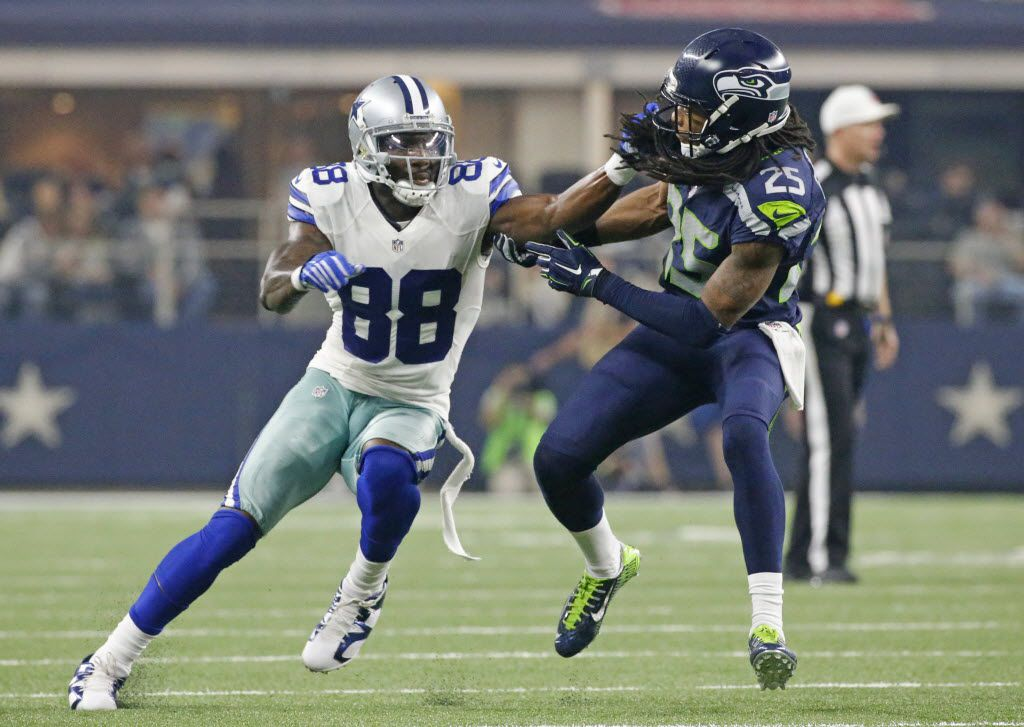 Seahawks Cb Richard Sherman Cowboys Wr Dez Bryant Looked A
