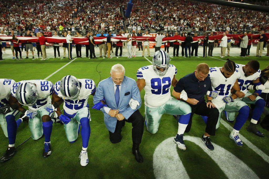 big sale c2a01 09a11 Jerry Jones explains Cowboys' national anthem decision: 'We ...