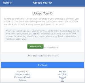 Facebook May Ask For Photo Id Bank Statement Even Medical Record