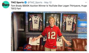 YouTube star bid $800K to win Tom Brady All-In Challenge