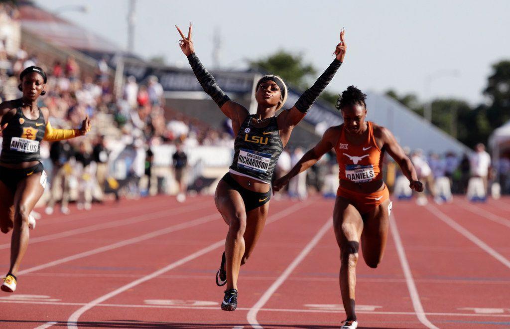 LSU sprinter and Carter alum Sha'Carri Richardson breaks
