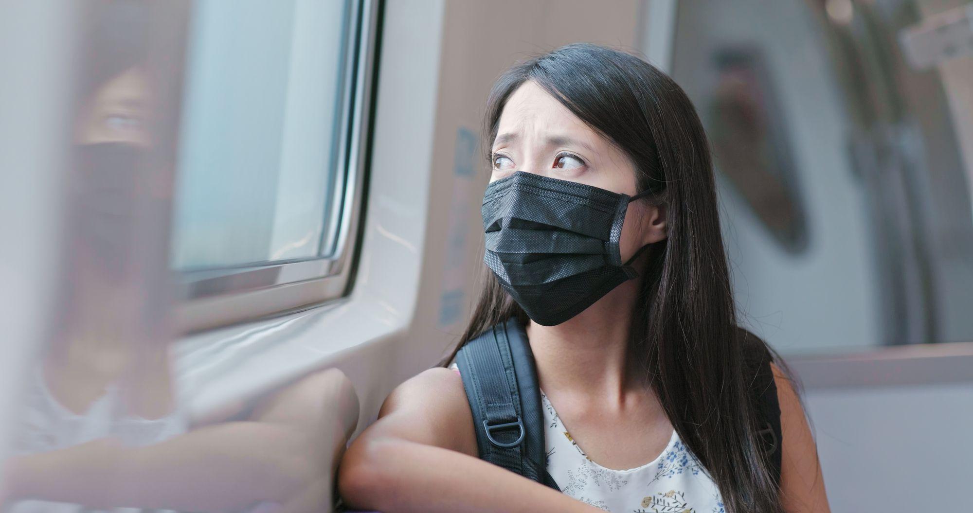 black face mask virus