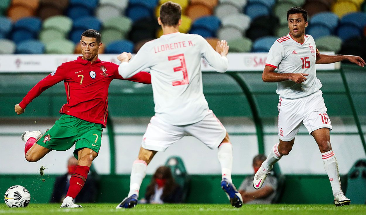 Listo radical reloj  Resultado España vs Portugal hoy: 0-0 marcador final en amistoso  internacional previo a UEFA Nations League | La República
