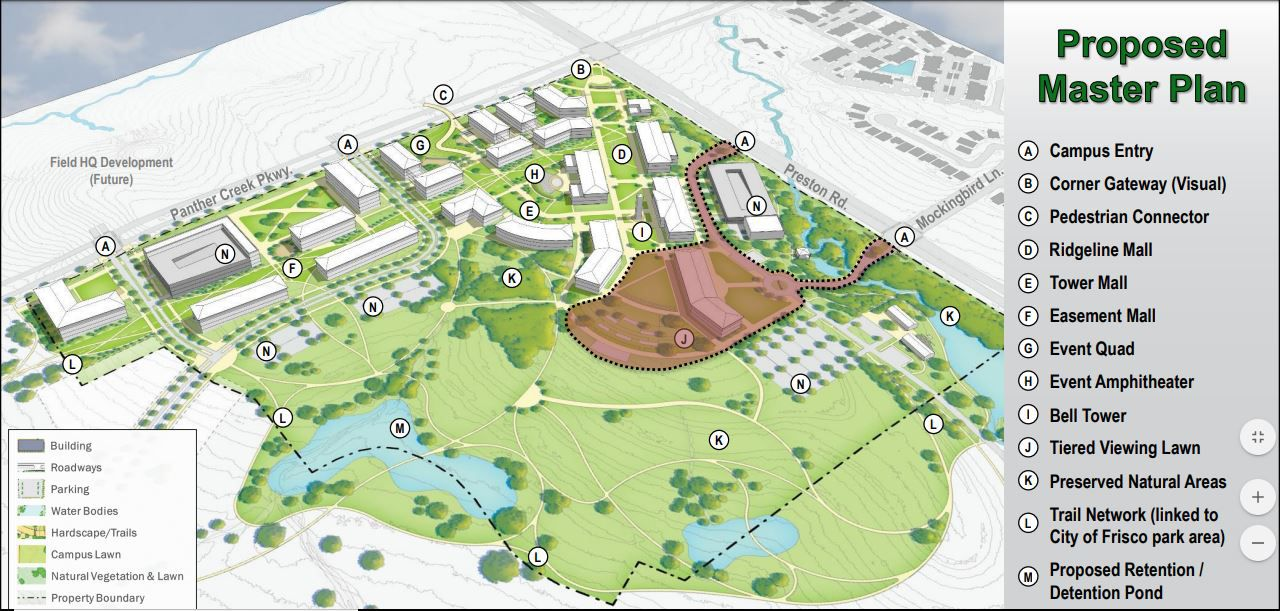 UNT's new Frisco campus to preserve natural, green spaces ... on collin county community college, collin college building map, collin college mckinney tx map,