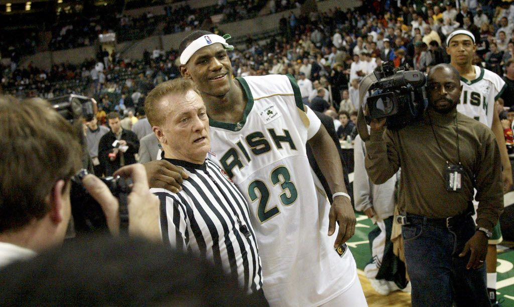 differently 61abb fd036 Flashback: Thirteen years ago, we visited LeBron James' high ...