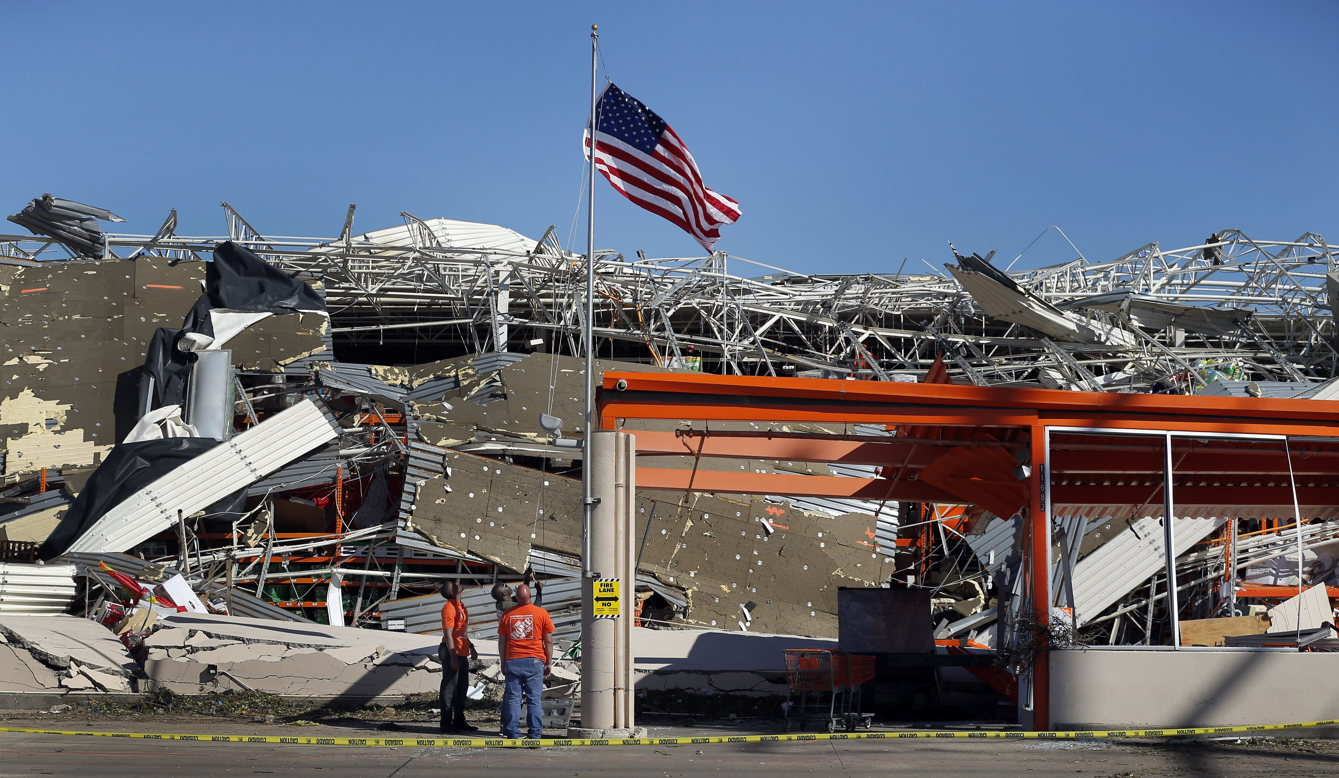 A Tornado That Destroyed A Dallas Home Depot Left A Flag And A