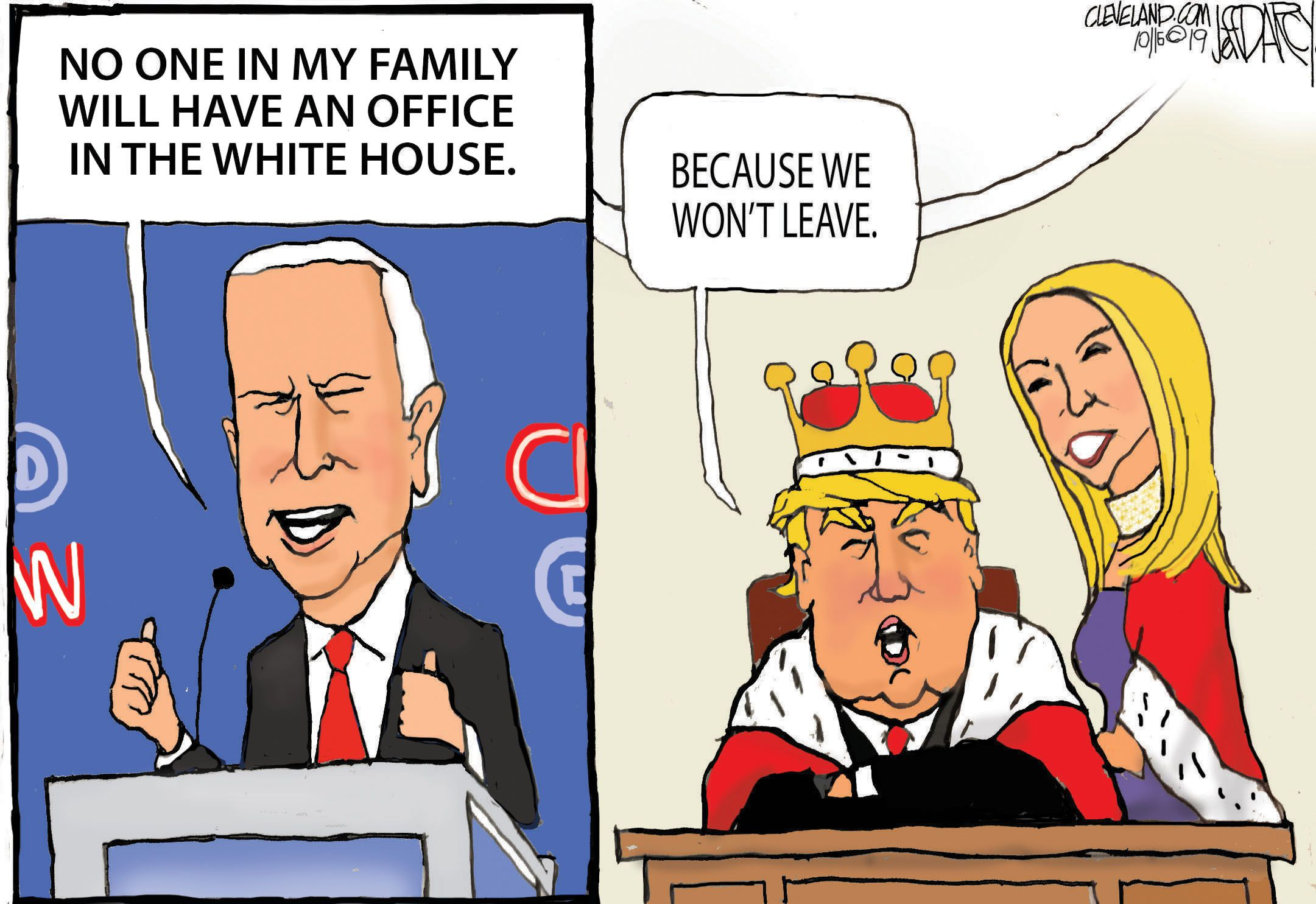 Biden Pledge On Son Debate Response Darcy Cartoon Cleveland Com