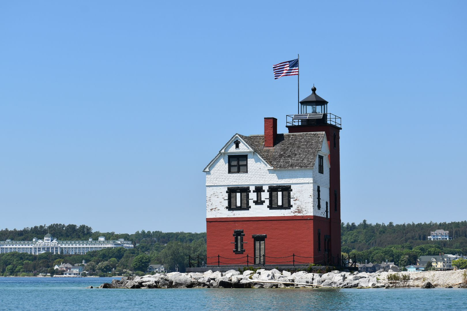 High Water Spells Trouble For Iconic Lighthouse Near Mackinac Island Mlive Com