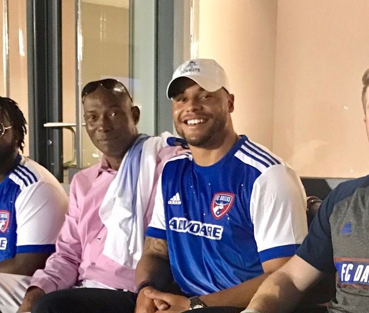 online store fd8df 53448 Dak Prescott back in town with his father at FC Dallas home ...