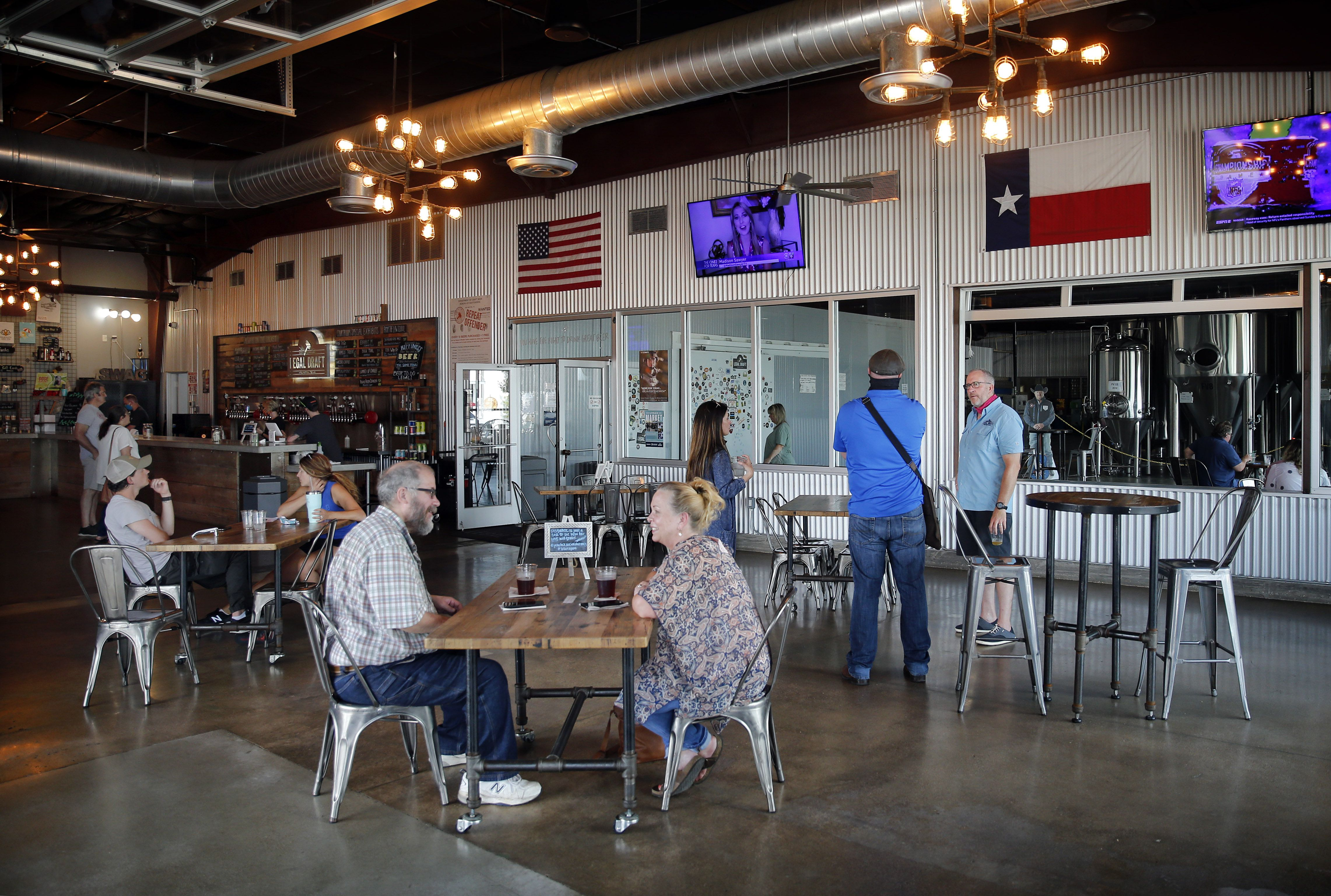 Bars And Breweries Reopen In North Texas With Relieved Regulars Safety Protocols And Caution Tape