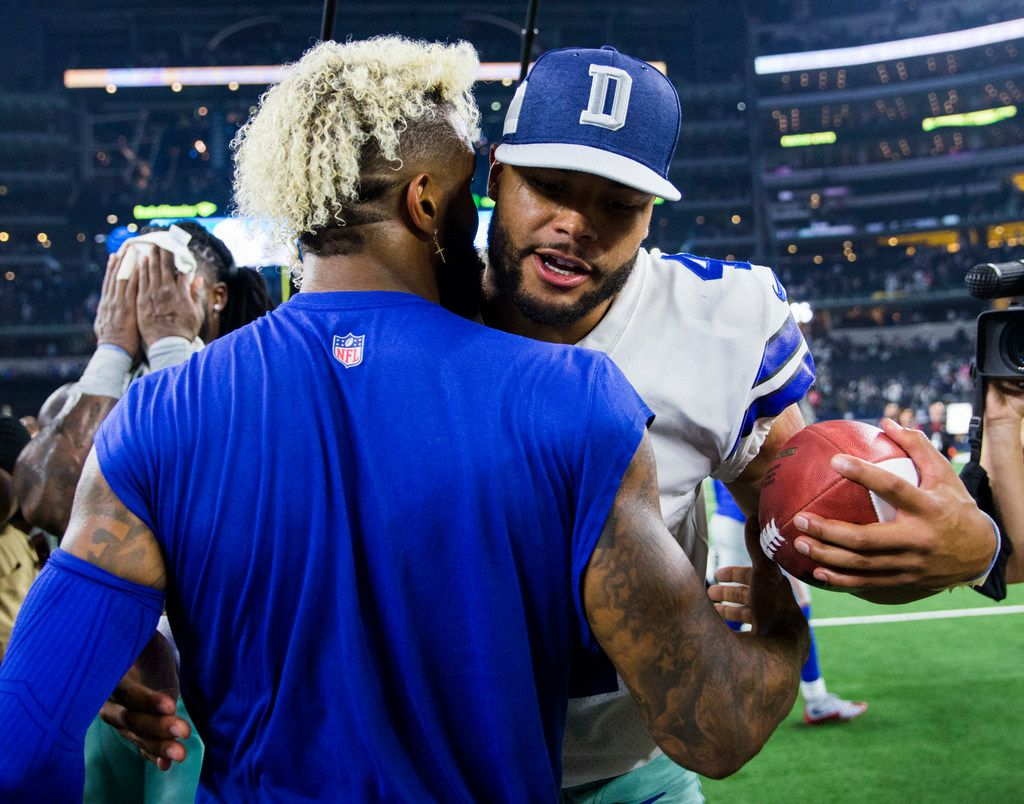 What Giants Wr Odell Beckham Jr Told Dez Bryant Before