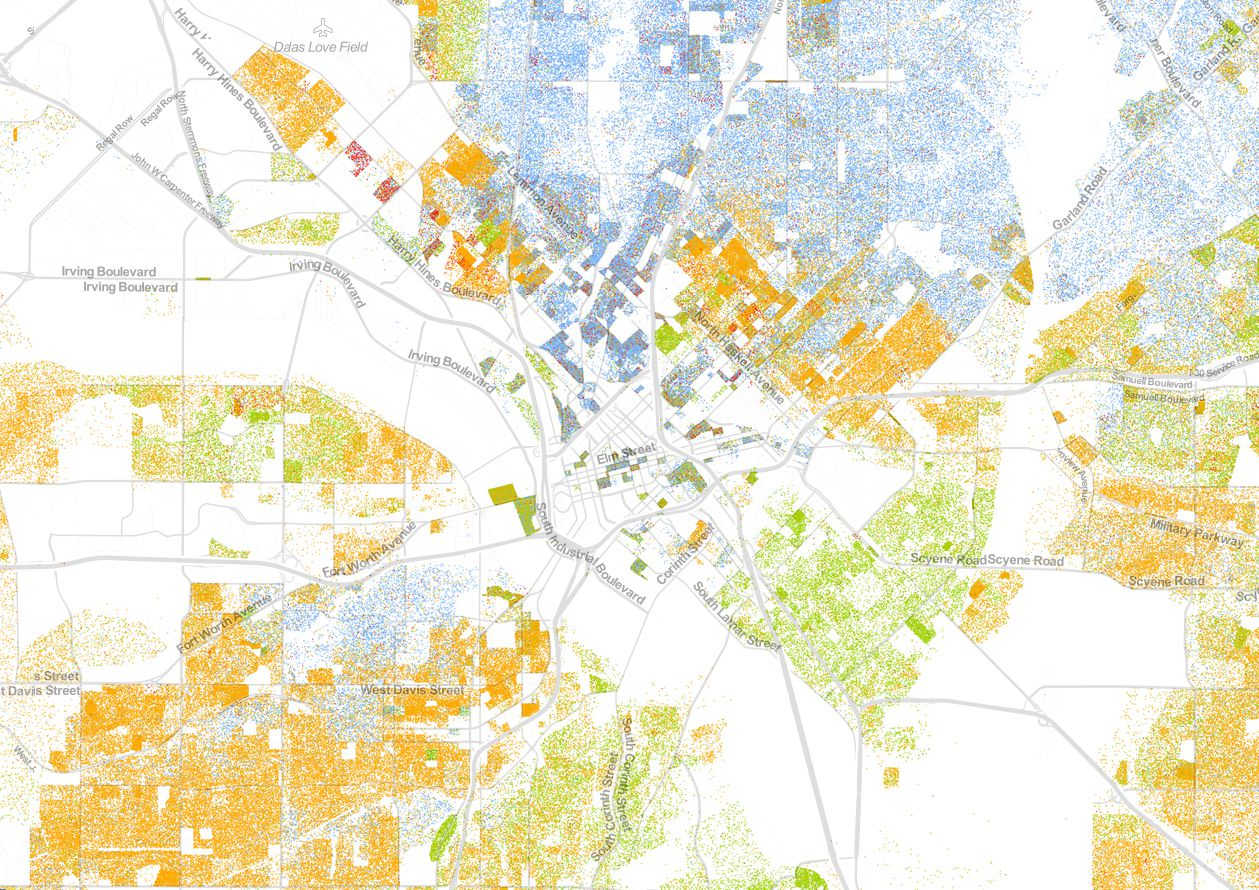 Color-coded map shows racial and ethnic make-up of North ...