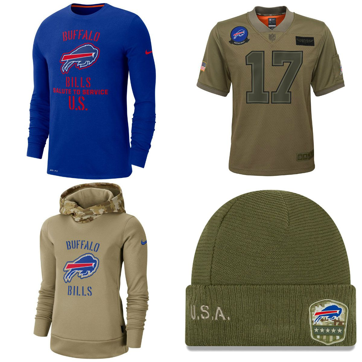 The NFL is honoring the U.S. military with a Salute to Service Buffalo ...