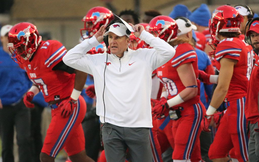 Report Either Smu S Chad Morris Memphis Mike Norvell Will