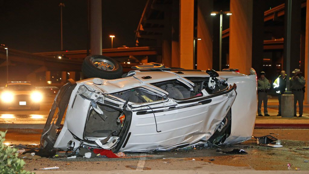 3 dead 1 injured after vehicle falls more than 60 feet off president george bush turnpike dallas morning news