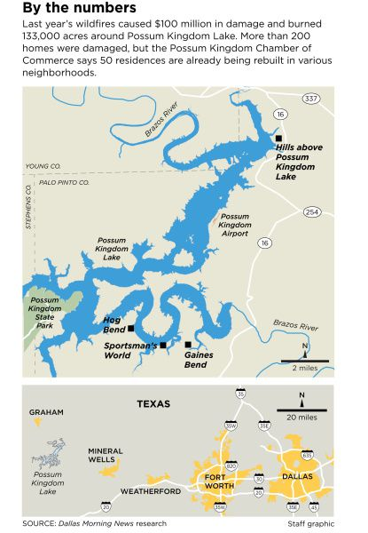 map of possum kingdom lake Life S Good At Possum Kingdom Lake After Texas Wildfires map of possum kingdom lake