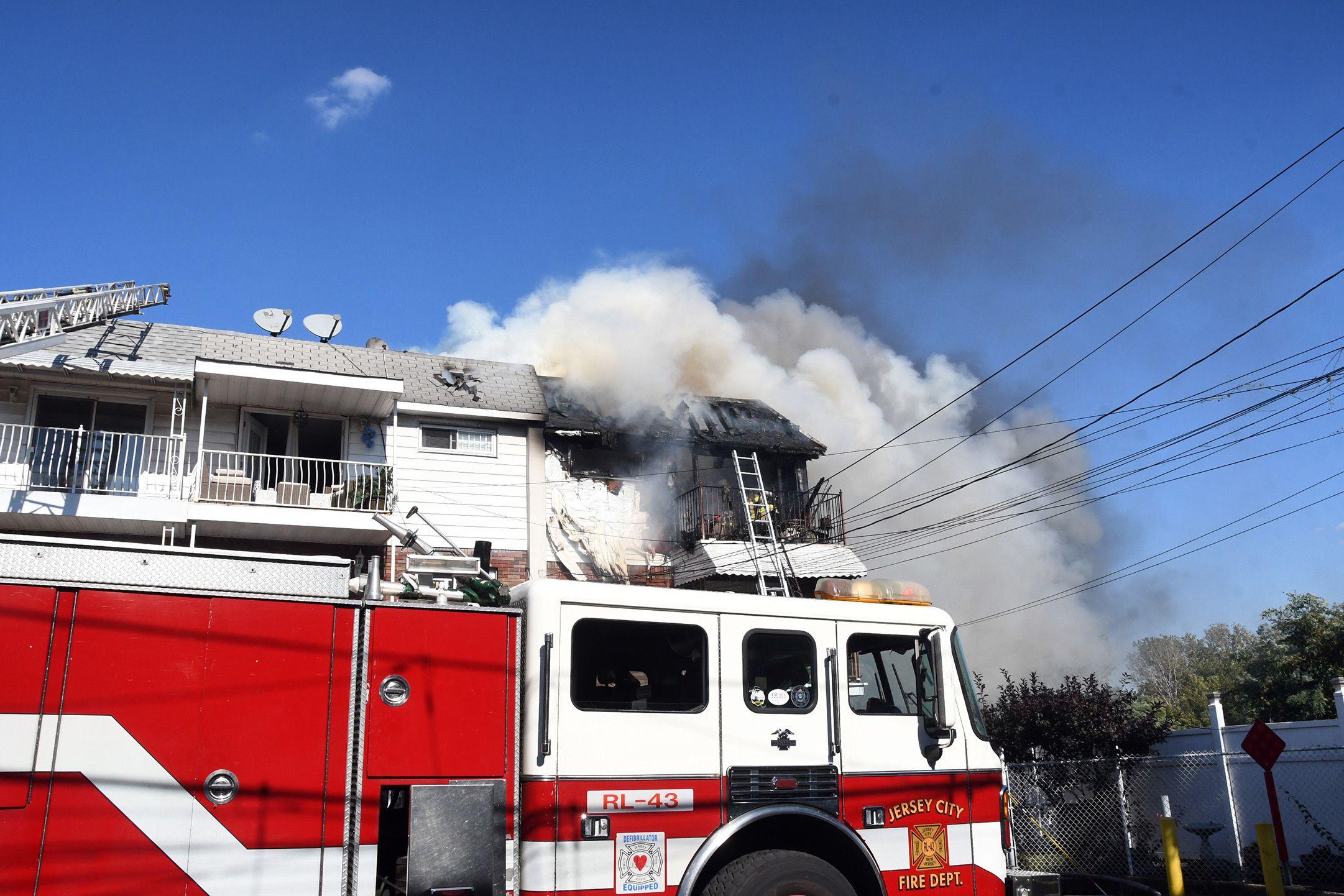 Two Homes Damaged In Jersey City 3 Alarm Blaze Nj Com