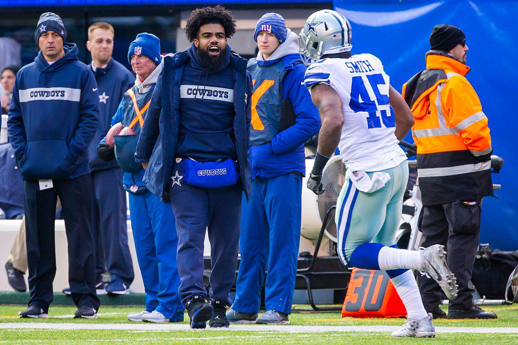 best loved e47e3 5a108 Ezekiel Elliott secures second NFL rushing title while on ...