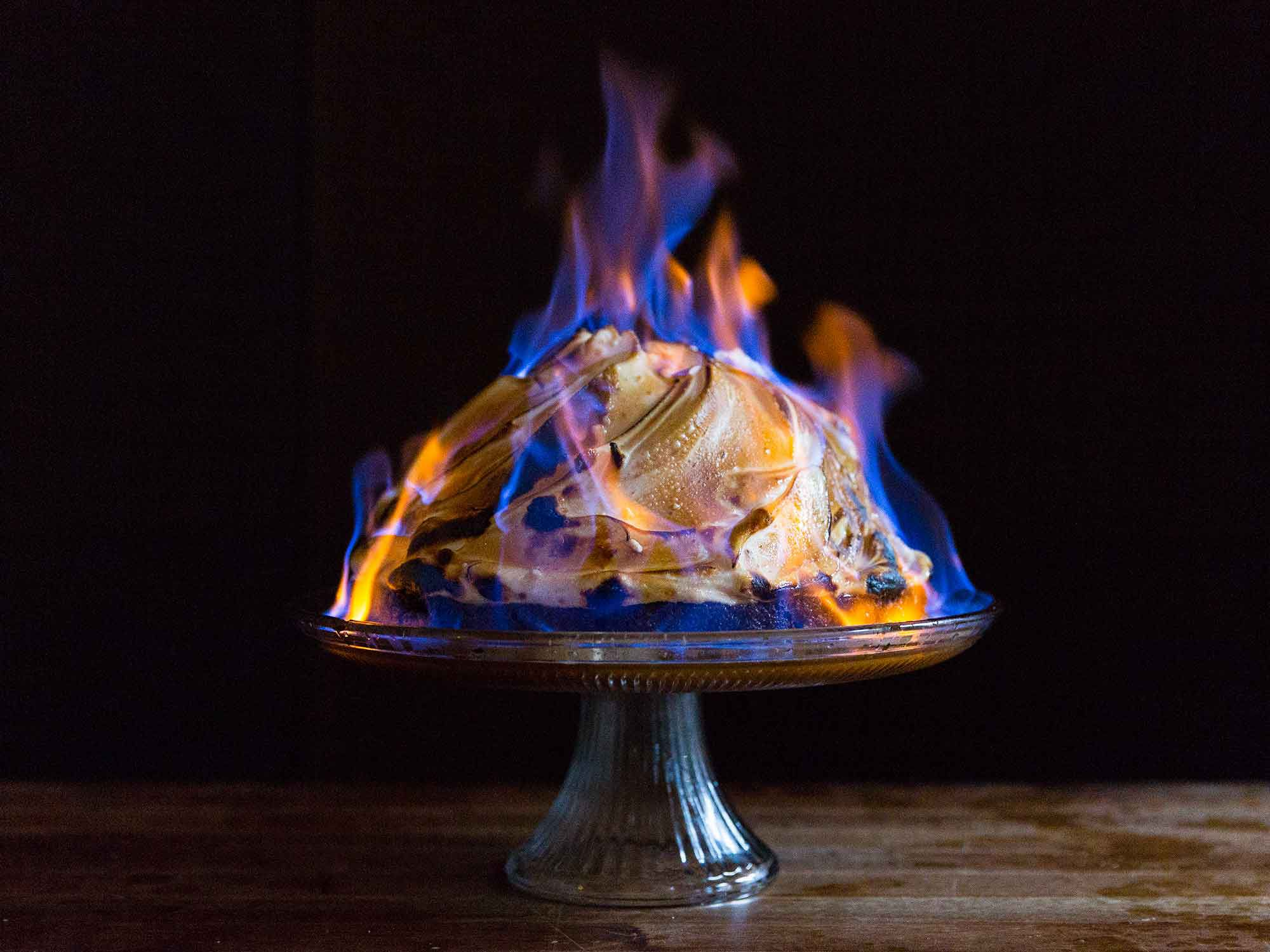 Baked Alaska Flambe Recipe Saveur