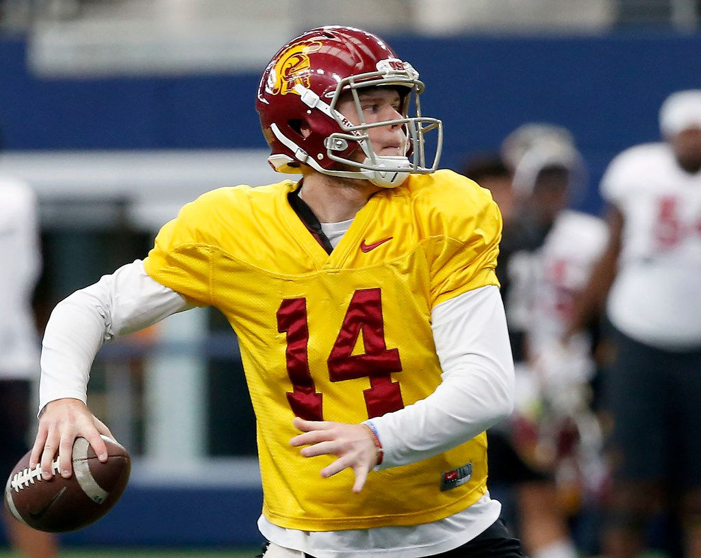pretty nice 4d478 17358 USC's Sam Darnold knows what you want to ask ahead of the ...