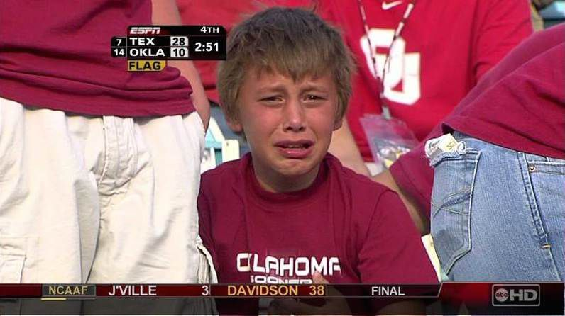 13 Years Later Meet The Sobbing Sooner One Of College Football