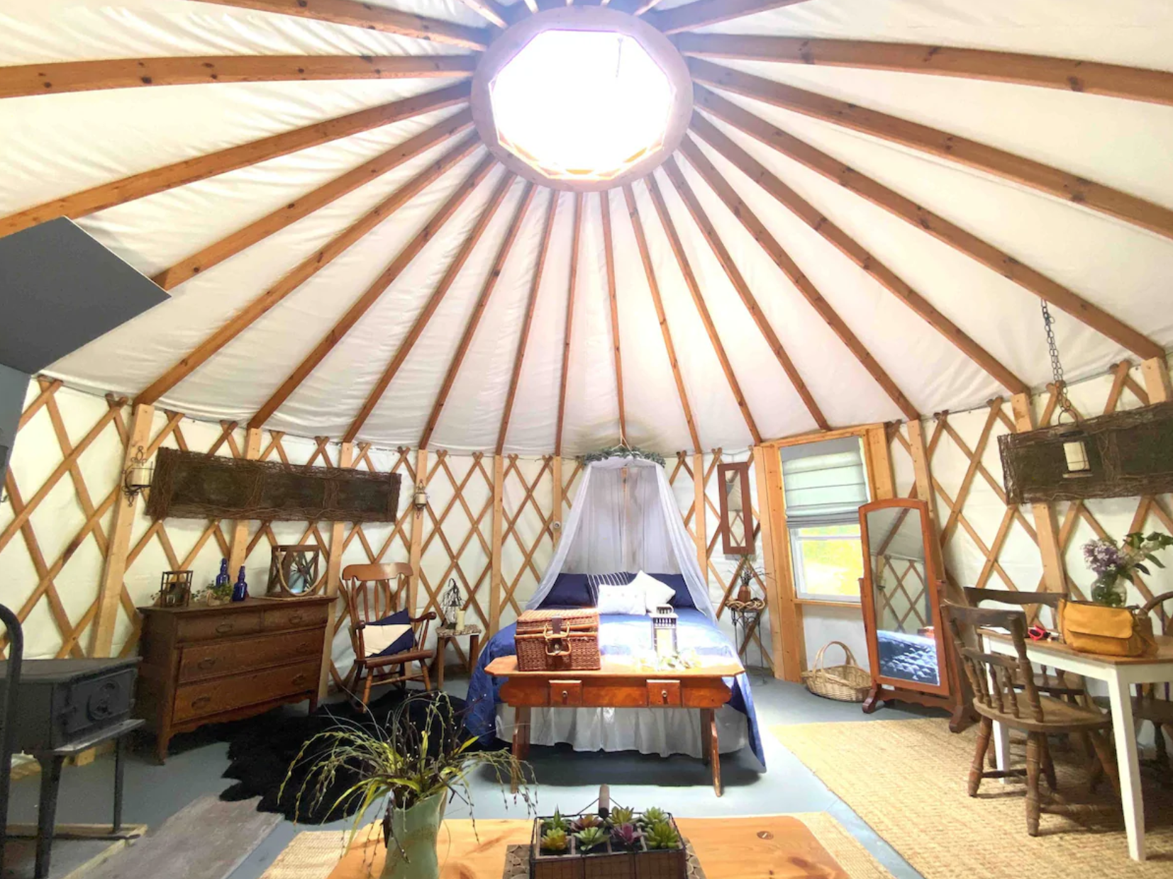 7 Great Glamping Sites In Pennsylvania Pennlive Com Made up of four modern yurts, each named after a portuguese river with a unique color scheme, quinta m is located on a country. pennlive com