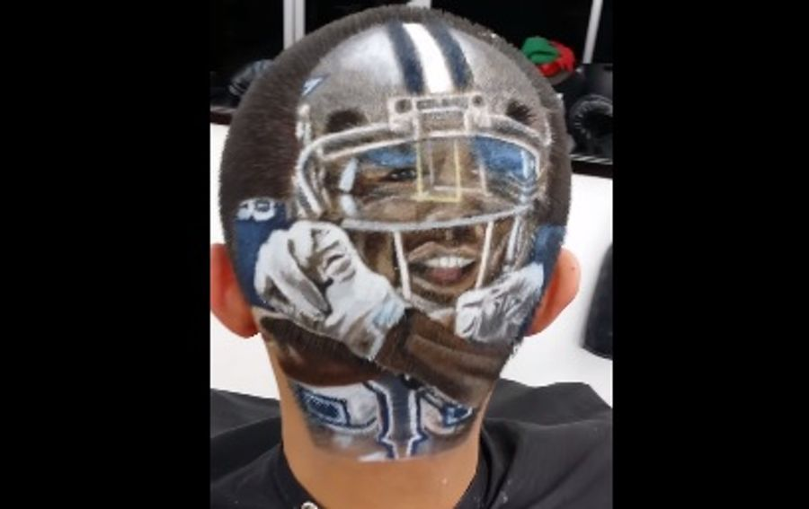 This Fan Has An Awesome Tattoo Of Dez Bryant Throwing Up The