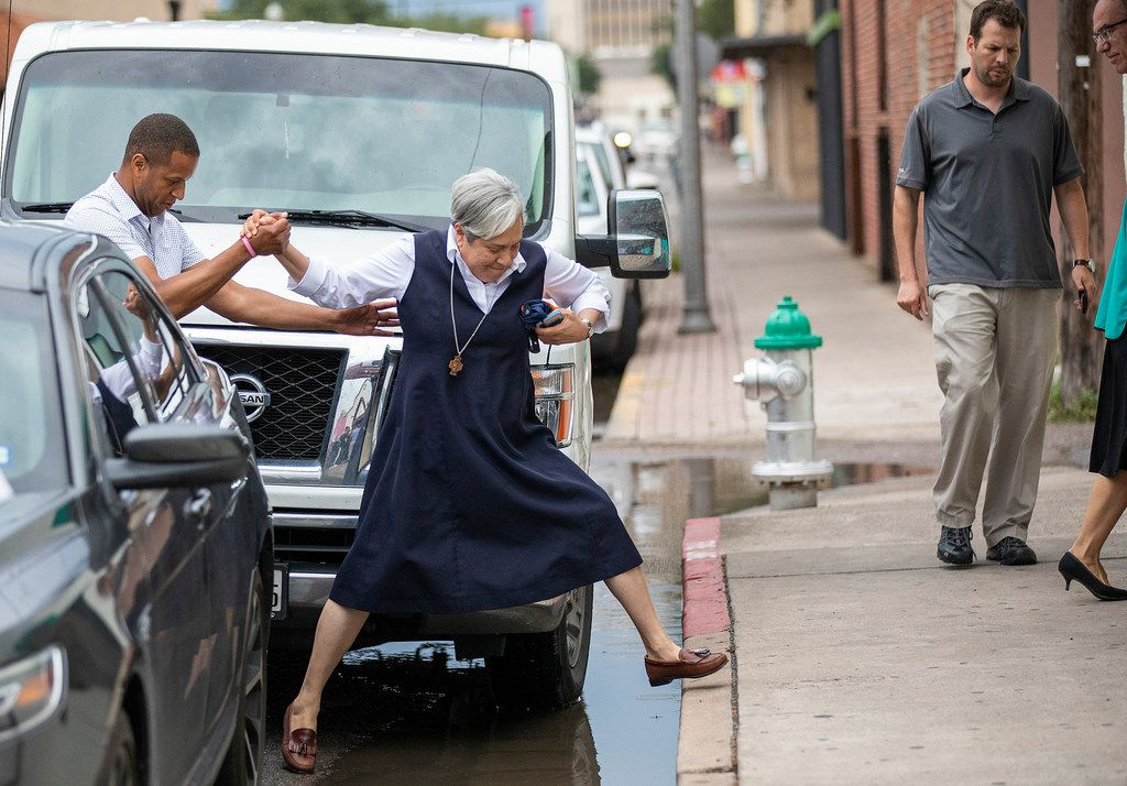 Sister Norma, the border battle's fiercest fighter, is