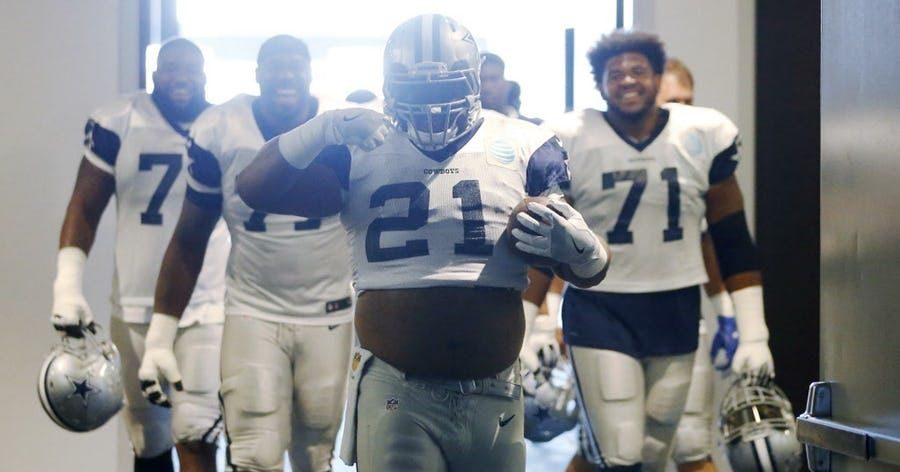 10 Things You Might Not Know About Cowboys Ol Joe Looney Including His Funny Ezekiel Elliott Impersonation