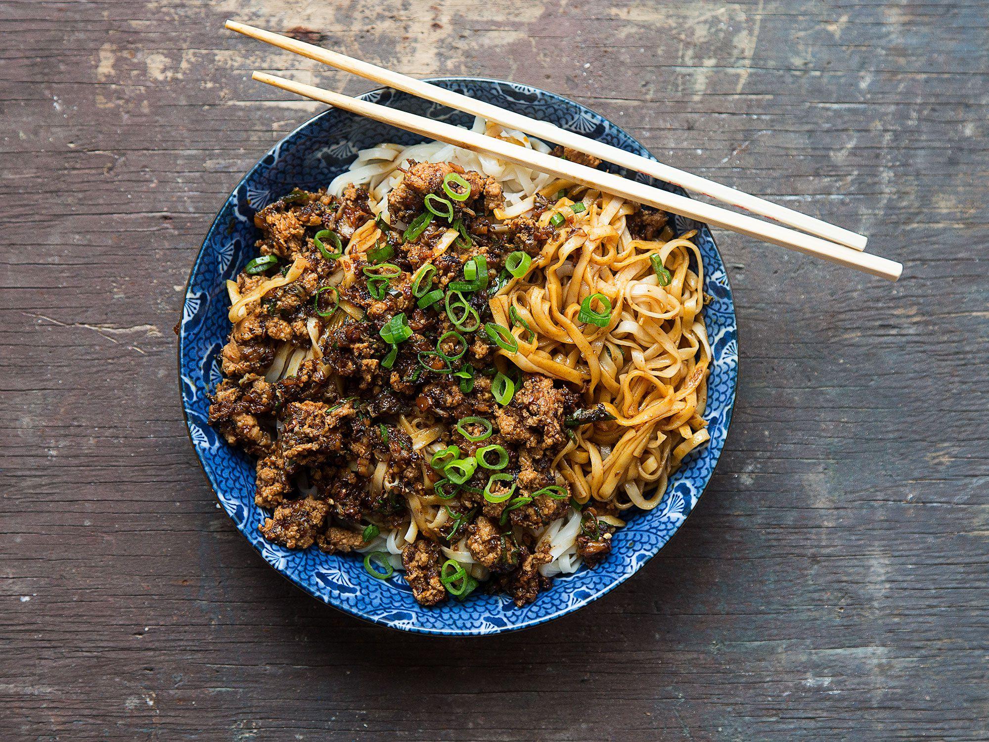 Sichuan Noodles With Spicy Pork Sauce Dan Dan Mian Recipe Saveur