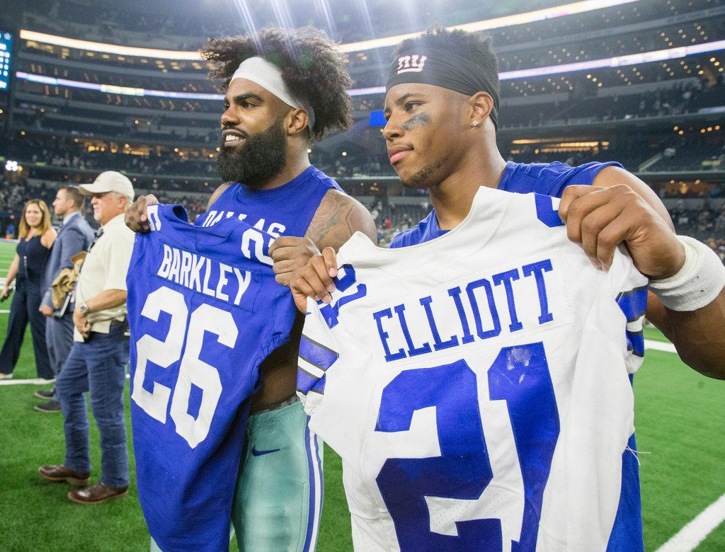 newest 2aefb 83aad Cowboys RB Ezekiel Elliott: Saquon Barkley did all he could ...