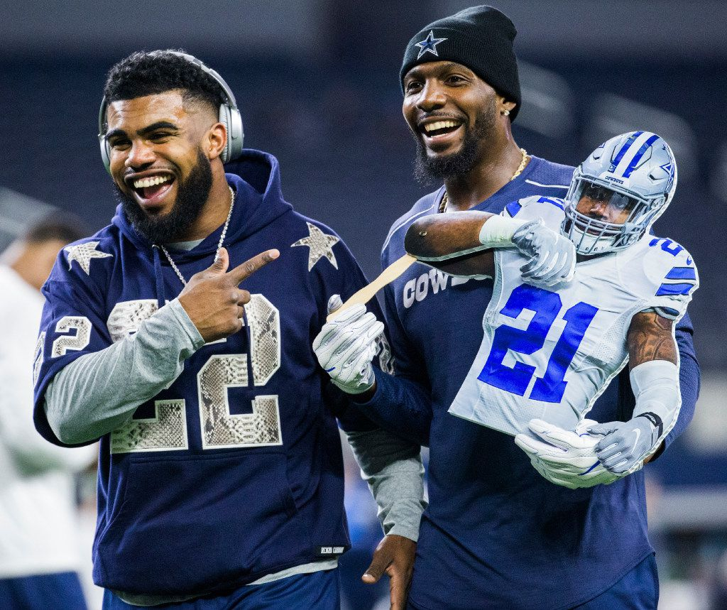 brand new a84a8 99b7f Ezekiel Elliott is doing what he does best during Pro Bowl ...