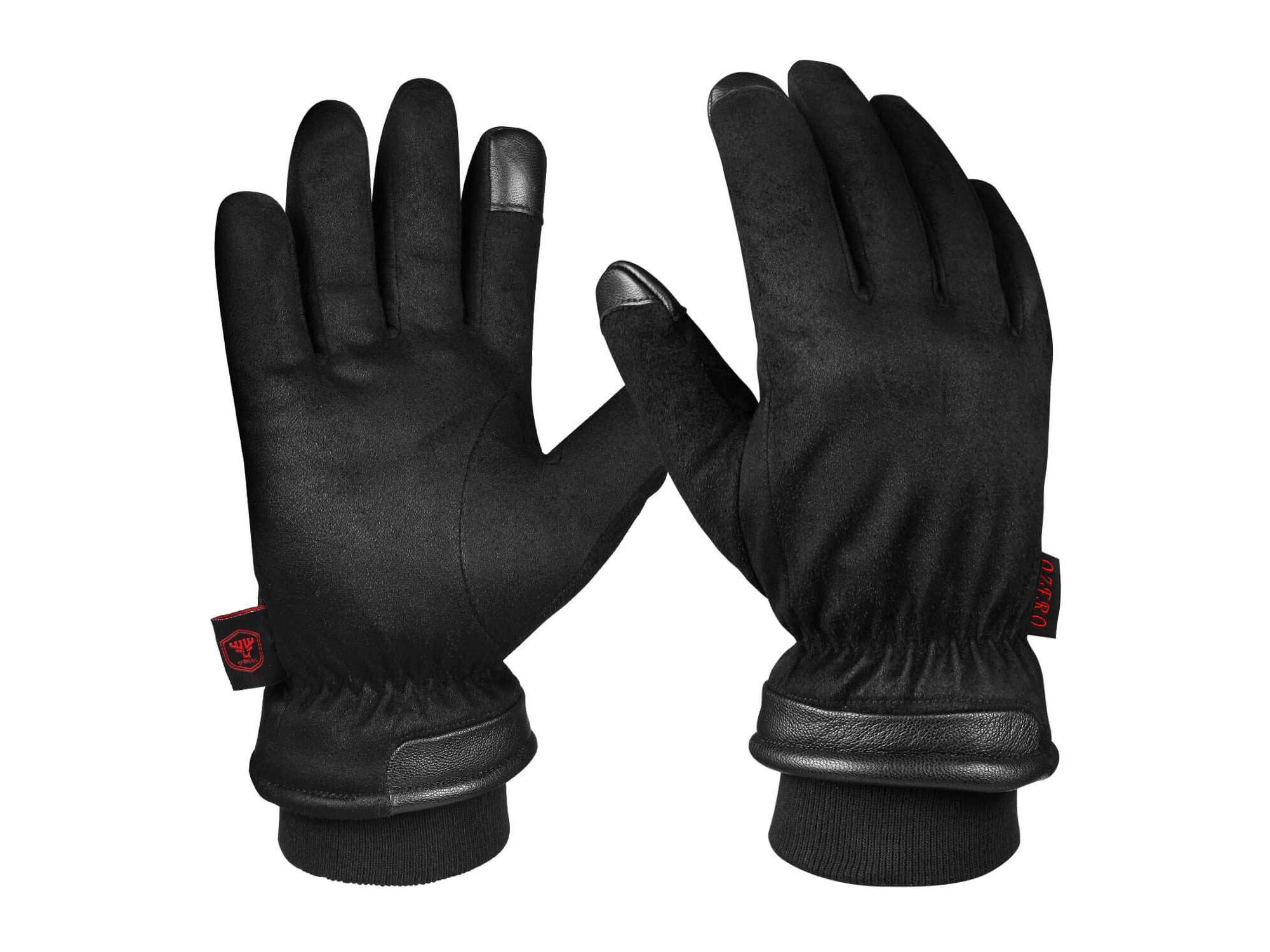 BAR Polaris Leather Touring Gloves for Unisex with Reinforced Heel and Hard Knuckle Protectors